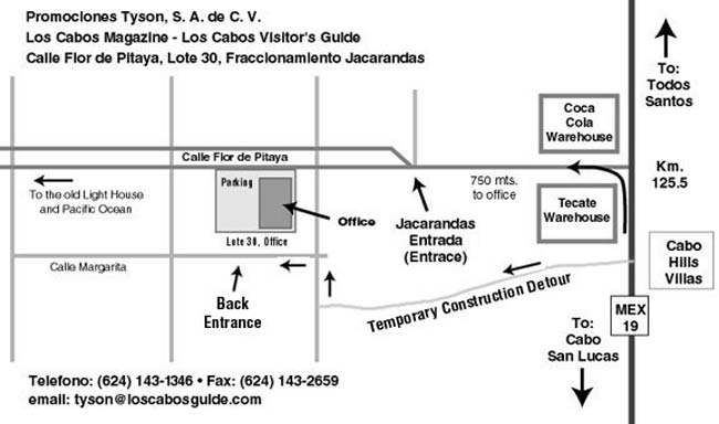 cabo san lucas office map